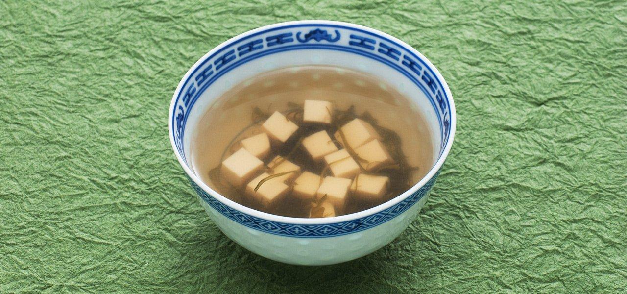 豆腐とめかぶのスープ , eヘルシーレシピ , 第一三共株式会社