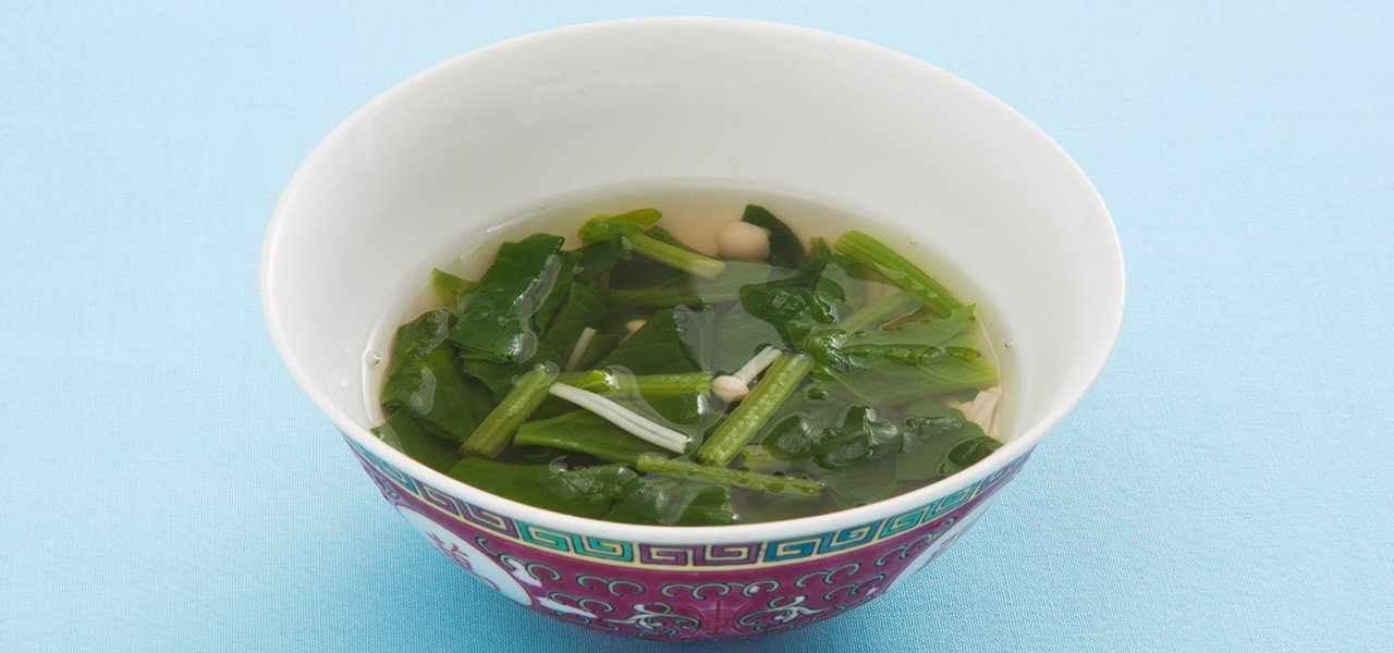 中華 スープ ほうれん草